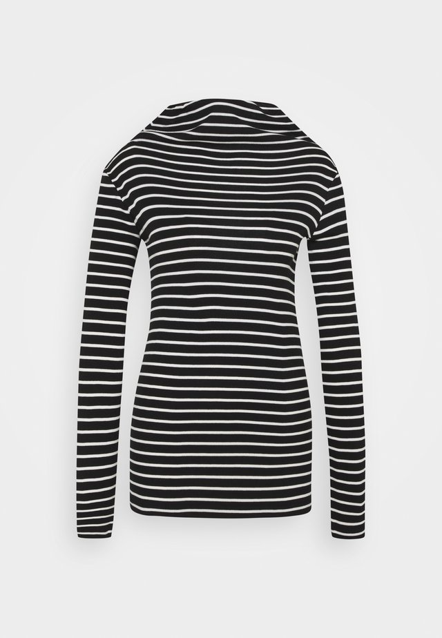 LONGSLEEVE TURTLENECK STRIPED - Pitkähihainen paita - multi/black