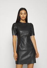 Noisy May - NMHILL SHORT DRESS - Day dress - black - 0