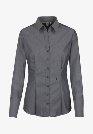 SCHWARZE ROSE - Button-down blouse - grau