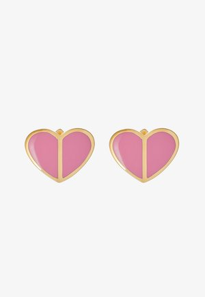 HERITAGE SPADE SMALL HEART STUDS - Earrings - rococo pink