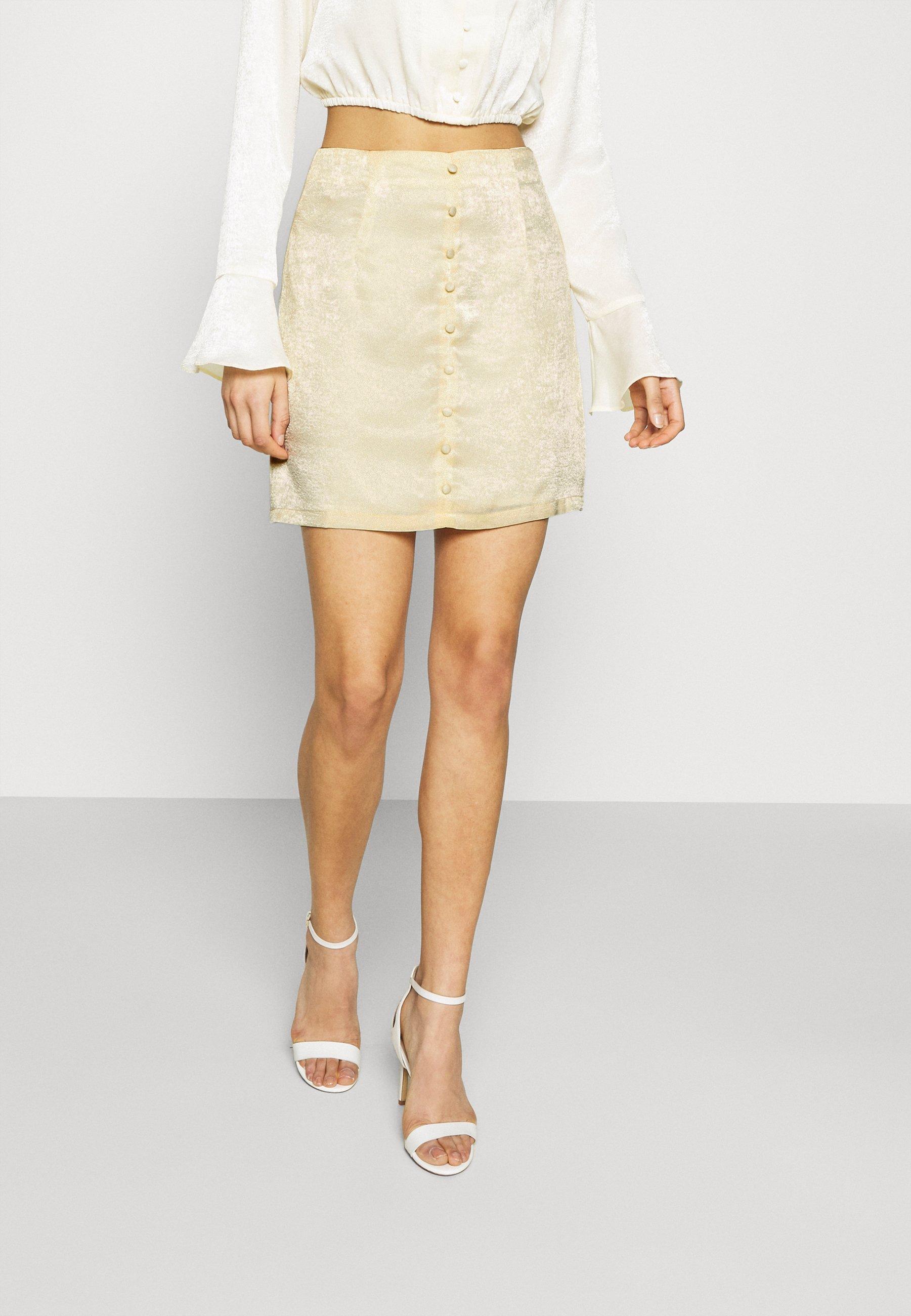 Women BUTTON THROUGH MINI SKIRT - A-line skirt