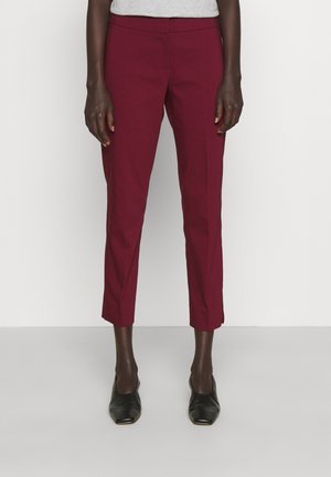 CROP PANT WITH SLIT - Trousers - dark ruby