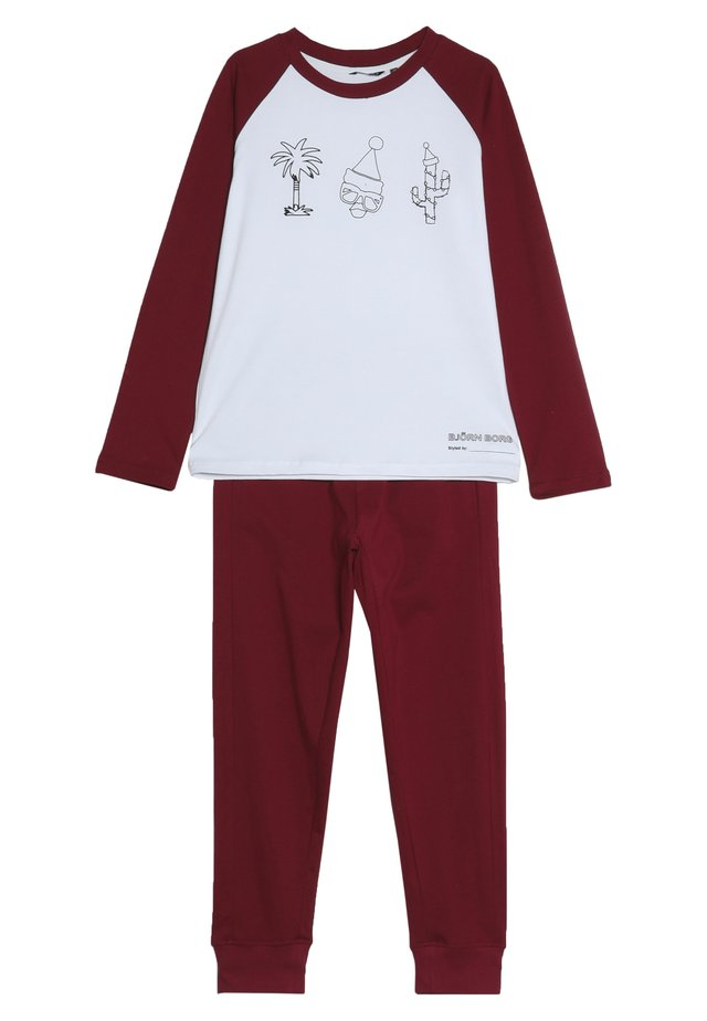 FUN SANTA OUTLINE XMAS BOX PYJAMA  - Pyžamová sada - brilliant white