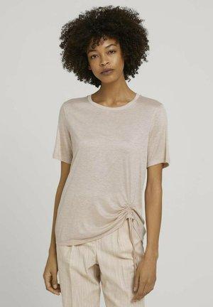 Basic T-shirt - cream toffee melange