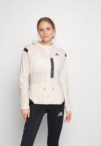 adidas Performance - MARATHON RUNNING ADIZERO PRIMEBLUE JACKET - Sports jacket - white/black - 0
