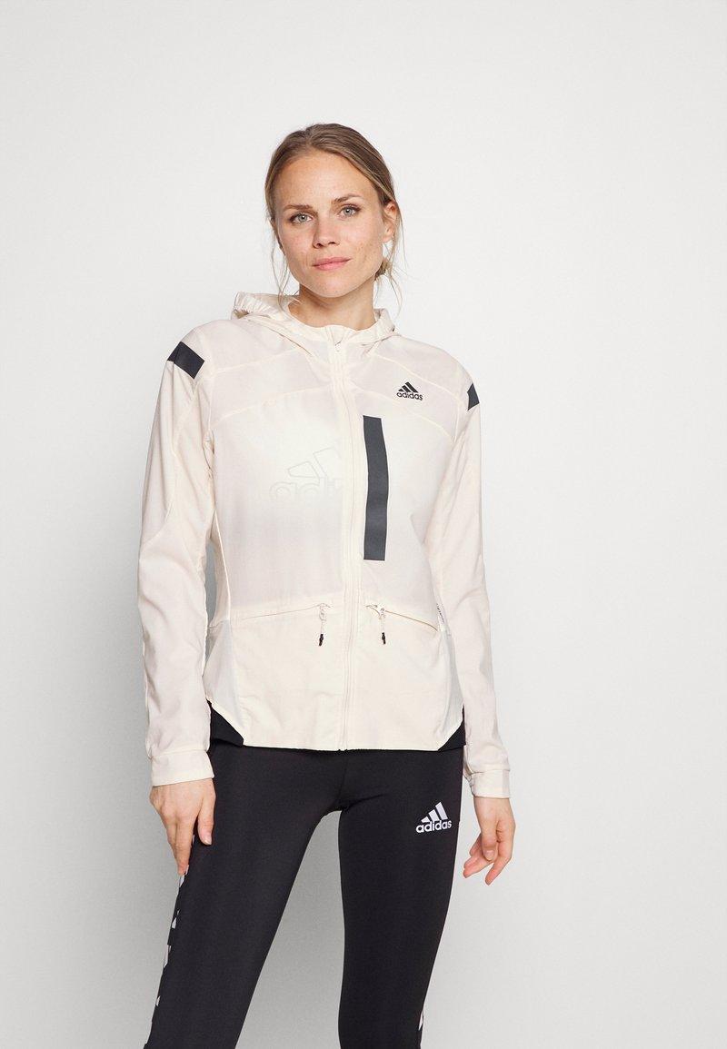 adidas Performance - MARATHON RUNNING ADIZERO PRIMEBLUE JACKET - Sports jacket - white/black