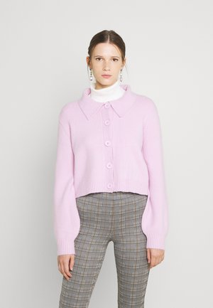 COLLARED BOXY FIT - Cardigan - light orchid