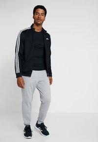 adidas Performance - Verryttelyhousut - medium grey heather/black - 1