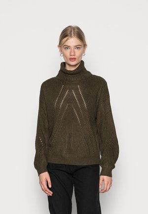 JDYCORY JUSTY ROLLNECK - Jumper - forest night