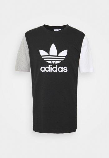 BLOCKED TREF UNISEX - T-shirts print - black/white