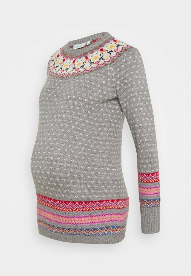 PENGUIN MIX FAIR ISLE JUMPER - Maglione - grey