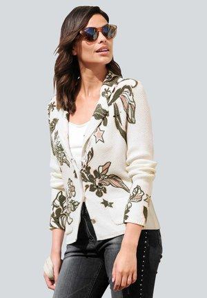 Cardigan - off-white,anthrazit,rosenholz