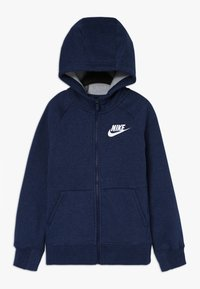 Nike Sportswear - FULL ZIP - Zip-up hoodie - blue void/heather/white - 0