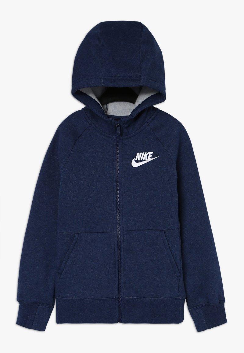 Nike Sportswear - FULL ZIP - Zip-up hoodie - blue void/heather/white