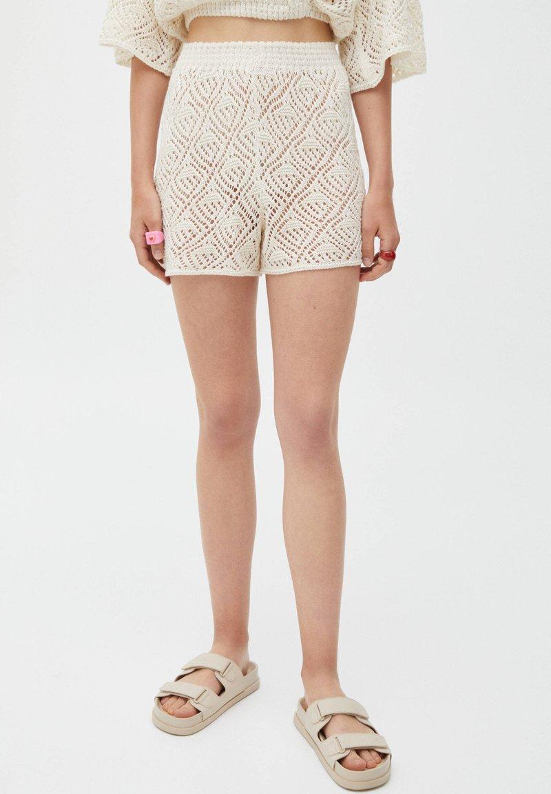 PULL&BEAR - Shorts - mottled beige
