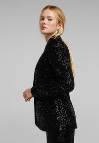 Esprit Collection - MIT PAILLETTEN - Blazer - black - 3
