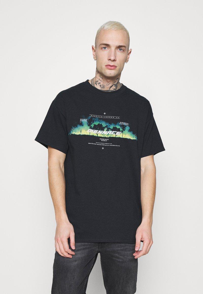 Mennace - BURNING FOREST - T-shirts print - black