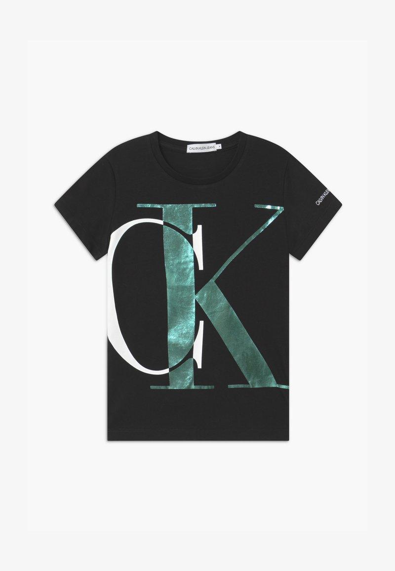 Calvin Klein Jeans - EXPLODED MONOGRAM - T-shirt con stampa - black