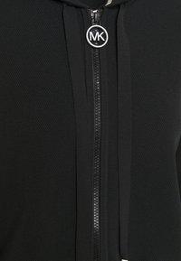 MICHAEL Michael Kors - LOGO ZIP HOODIE - Cardigan - black - 5