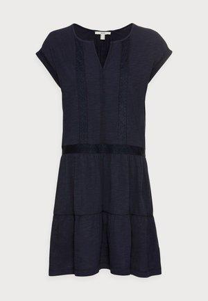 STRUC TAPE DRESS - Jersey dress - navy