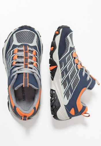 M-MOAB FST LOW WTRPF - Hiking shoes - navy/grey/orange