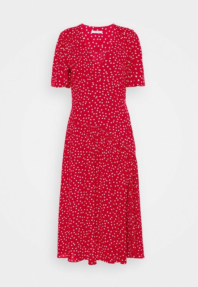 DECORO 2-IN-1 - Maxi šaty - rosso