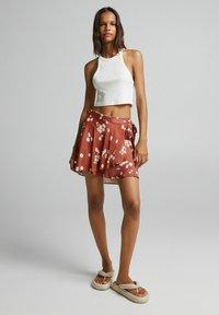 Bershka - Áčková sukně - brown - 1