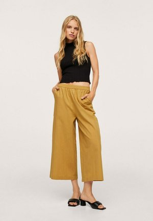 Trousers - moutarde