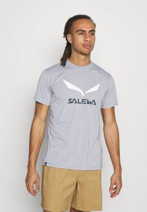 SOLID LOGO DRY - T-shirt med print - heather grey melange