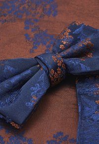 Burton Menswear London - CHINA BOW TIE AND MATCHING POCKET SQUARE SET - Kapesník do obleku - navy - 4