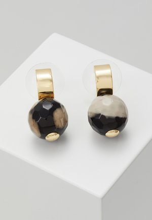 BREY  - Earrings - gold-coloured/black