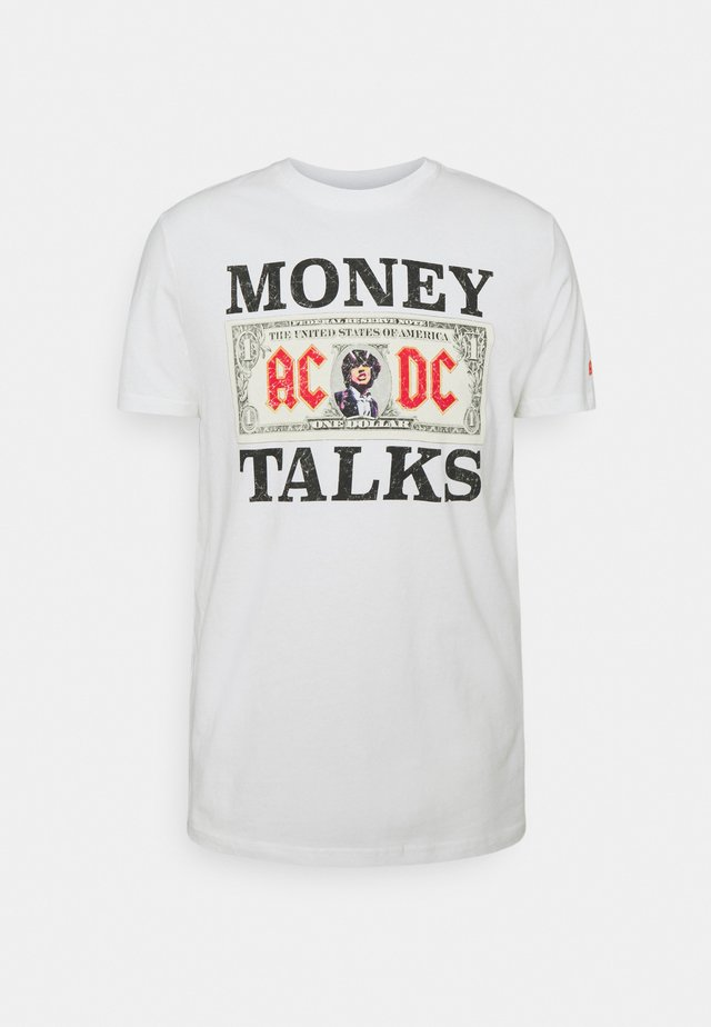 WEB ACDC MONEY - T-shirt imprimé - ivory