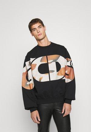 LOGO ROUND COW CREWNECK UNISEX - Sweatshirt - black