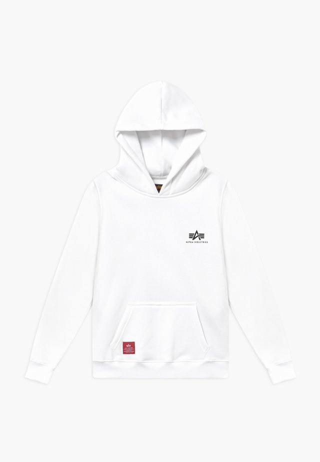 BASIC HOODY SMALL LOGO KIDS TEENS - Kapuzenpullover - white