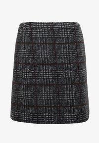 Esprit Collection - WINTER CHECK ME - Mini skirt - black - 4