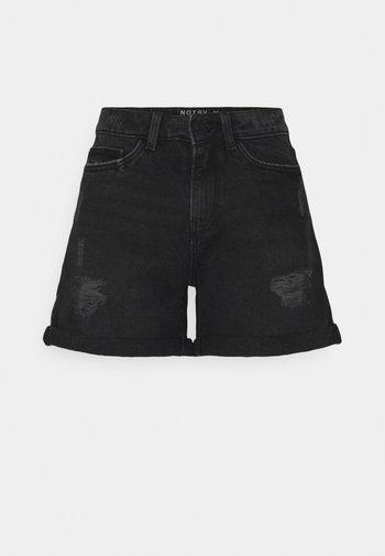 NMSMILEY DESROY - Shorts di jeans - black denim