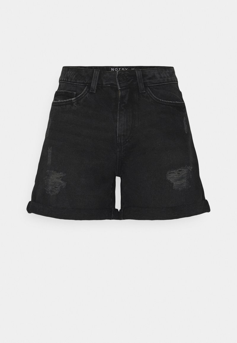 Noisy May Petite - NMSMILEY DESROY - Szorty jeansowe - black denim