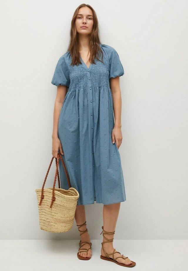 Shirt dress - oljeblå