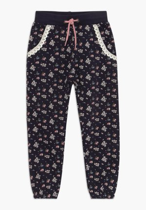 KIDS FLORAL PRINT - Tracksuit bottoms - dark blue