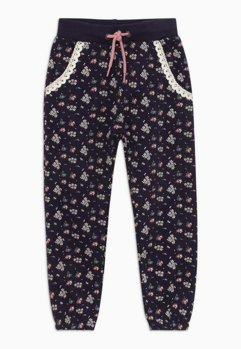 Blue Seven - KIDS FLORAL PRINT - Tracksuit bottoms - dark blue