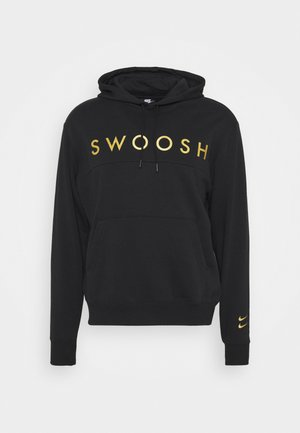 HOODIE - Jersey con capucha - black/gold