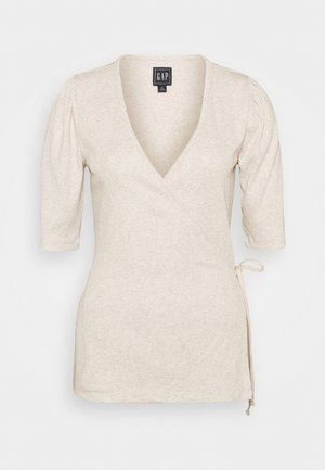 WRAP - Print T-shirt - oatmeal heather