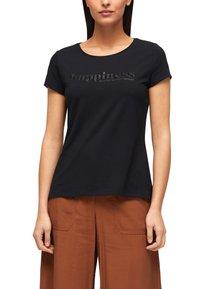 s.Oliver BLACK LABEL - Print T-shirt - black placed wording - 4