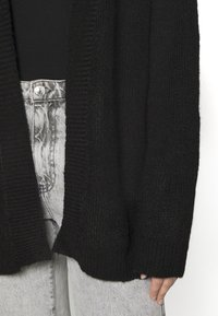 Even&Odd - BASIC- OPEN SPONGY CARDIGAN - Cardigan - black - 5