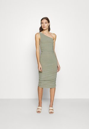STAR DUST ONE SHOULDER MIDI - Cocktail dress / Party dress - sage
