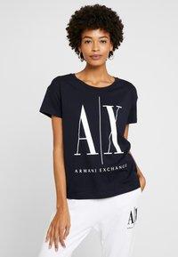 Armani Exchange - Camiseta estampada - navy - 0