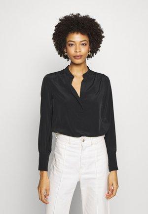 BLACK V NECK SHIRT - Blouse - black