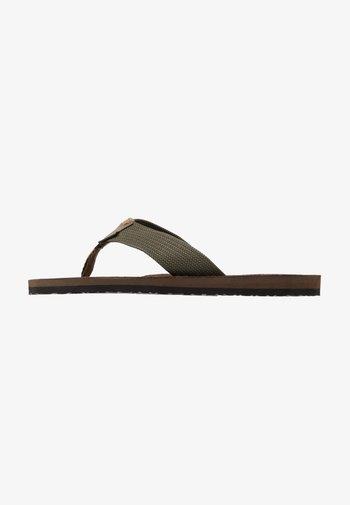 TOEMAN BEACH - T-bar sandals - olive
