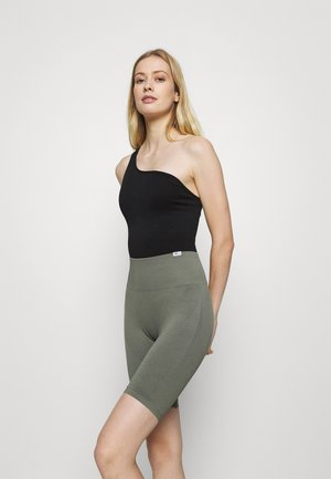 ONE SHOULDER SEAMLESS BODYSUIT - Tanztrikot - black