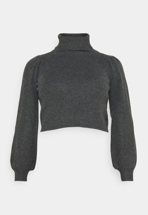 PCMSALSA ROLL NECK - Svetr - dark grey melange